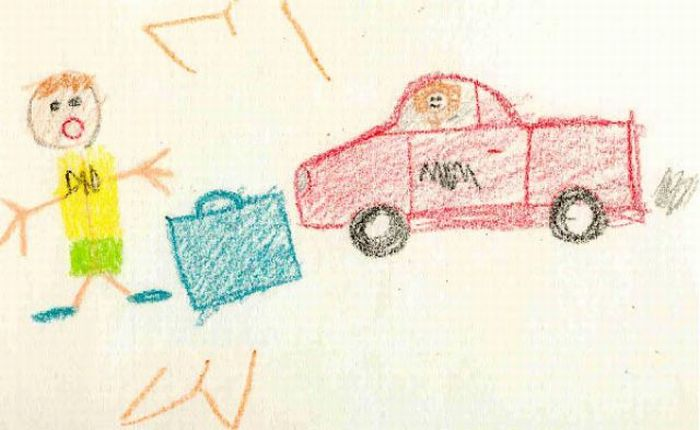 mom behind the wheel - Images Of Kids Drawing