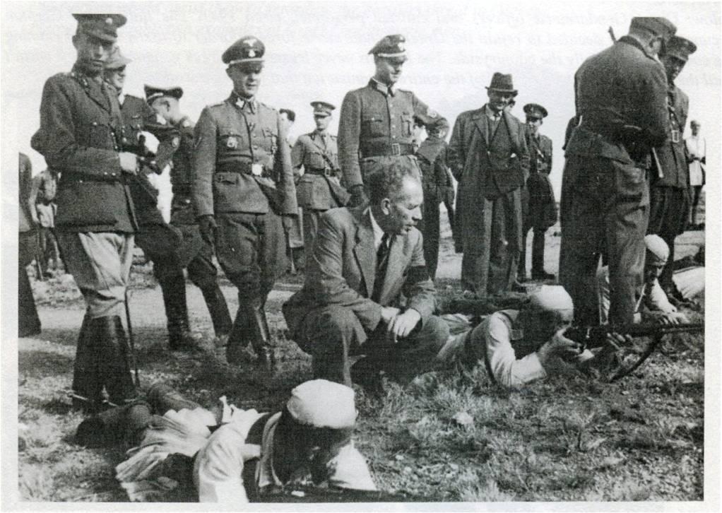 СС генералот Валтер Шимана ги обучува грчките Безбедносни Баталјони.