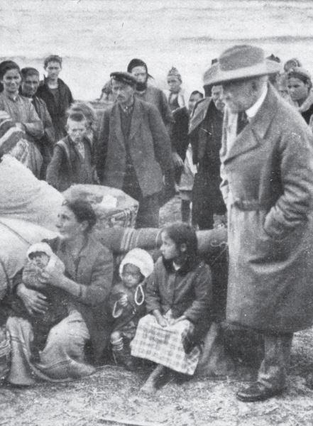 Олеснувачот Нансен со грчките бегалци од Мала Азија.