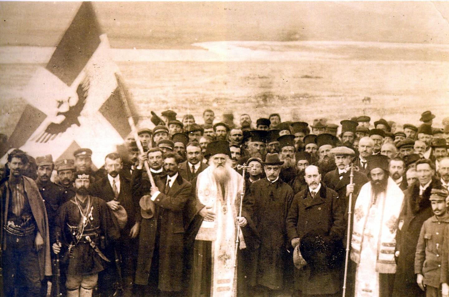 Прогласување на грчката автономија во Северен Епир (Јужна Албанија), 1914.