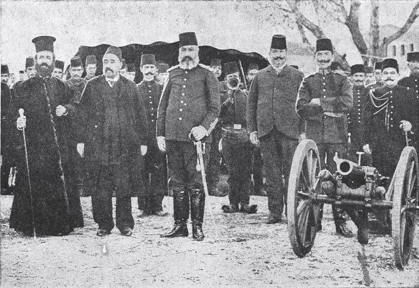 Каравангелис со османлискиот окупатор во Костурско.