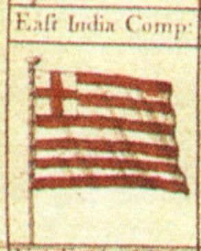 Грчкото знаме е плагијат на она на Англиската Источноиндиска Компанија.