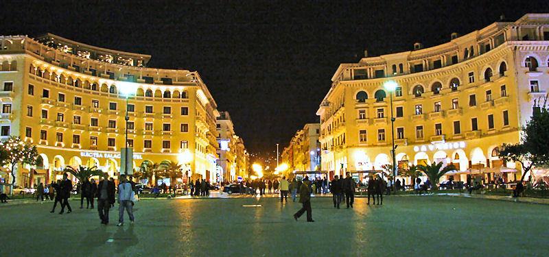 Аристотеловиот плоштад во Солун, осмислен по пожарот во 1917.