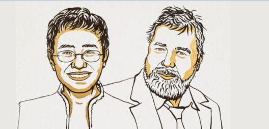 Новинарите Марија Реса и Димитриј Муратов се добитници на Нобеловата награда за мир