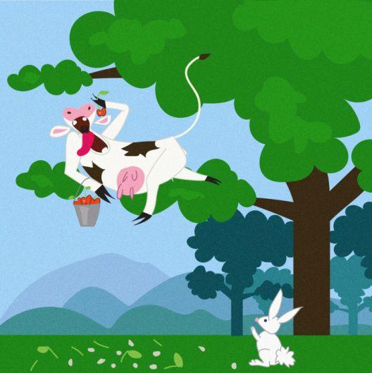 Себичната крава, и уште две песни