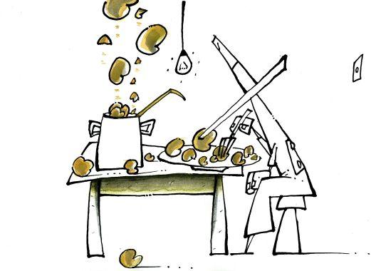 Супа од петел & саксии (1)