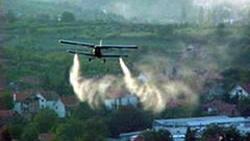 Авионско прскање против опозицијата