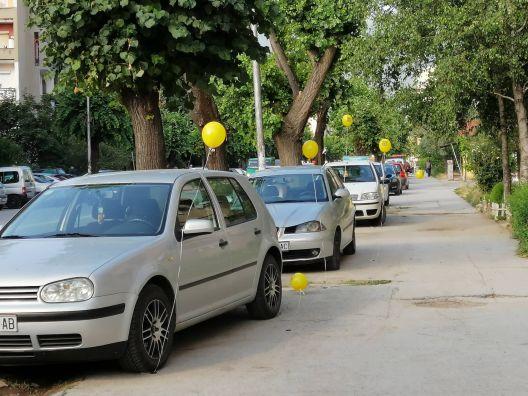 Герила акција во Битола - Ова не е паркинг!