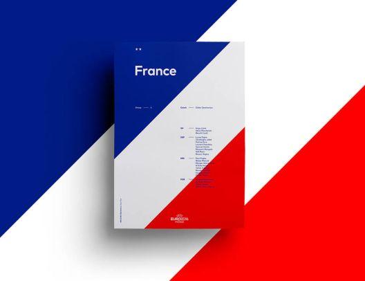 Минималистички постери за тимовите на Европското фудбалско првенство