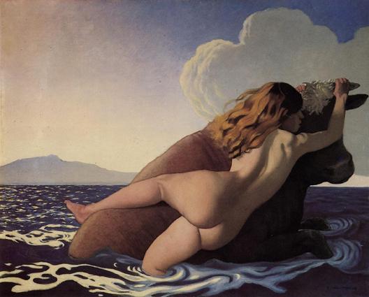 """""""Силувањето на Европа"""" (1908) од Феликс Валотон"""
