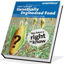 Краток корисен прирачник на Гринпис за избегнување на генетски модификуваната храна