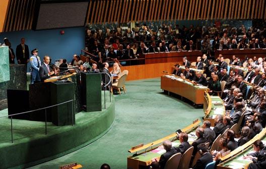 Понижувачкиот говор на Обама во ОН