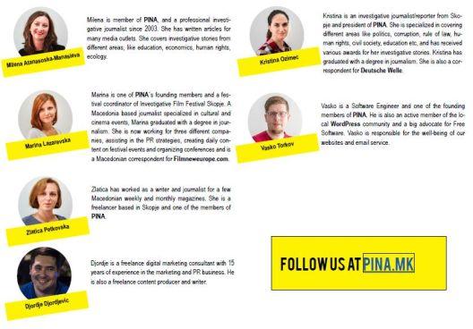 ПИНА – нова платформа за истражувачко новинарство и анализи