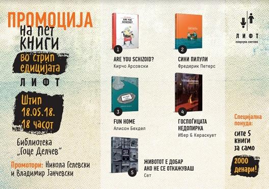 Промоција на стрип едицијата ЛИФТ во Штип