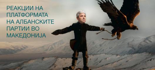Реакции на Платформата на албанските партии во Македонија