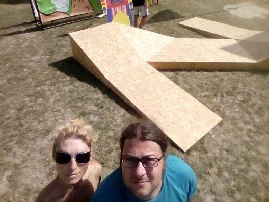 """Просторната инсталација на Марија Христовска Стевковска и Ѓорѓе Јовановиќ дел од  фестивалот """"Сигет"""""""