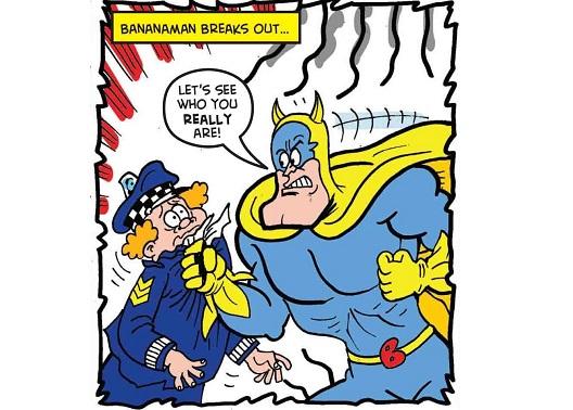 """Бананамен фатен како пишува графит """"Долу Црешомен!"""""""