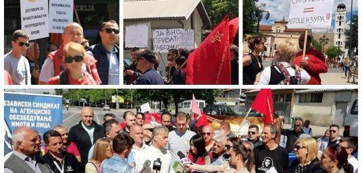 Пристојна плата и нормални услови за работа побараа синдикатите на 1 мај