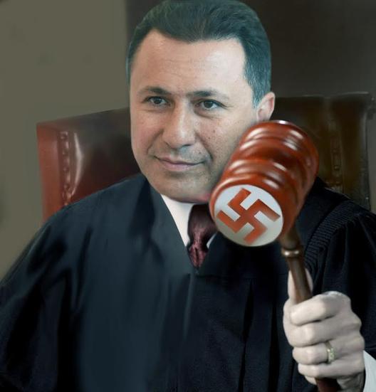Грујо, гадно си се заебал ако мислиш дека толку лесно ќе можеш да го уапсиш лидерот на опозицијата!