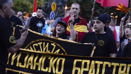 Хелсиншки го осуди говорот на омраза и повикот на насилство на протестот