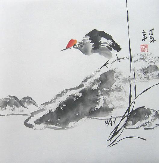 Птицата Чинг Веј го затрупува морето