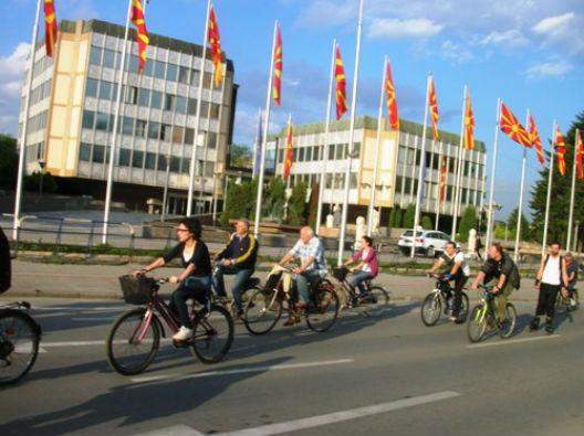 Велосипедистите конечно го освоија Скопје