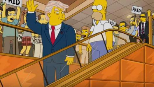 """""""Симпсонови"""" го најавија Трамп пред 16 години"""